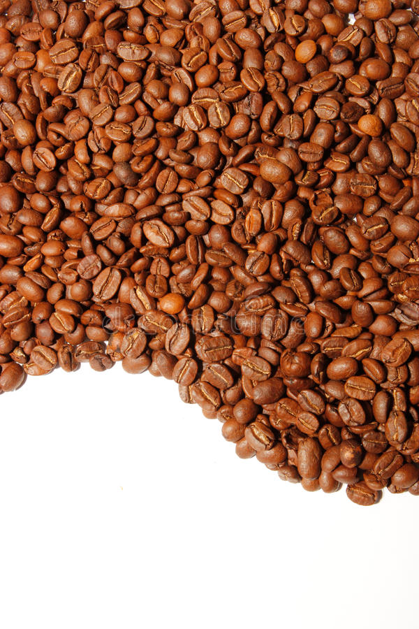 Curve of coffee beans royalty free stock photography