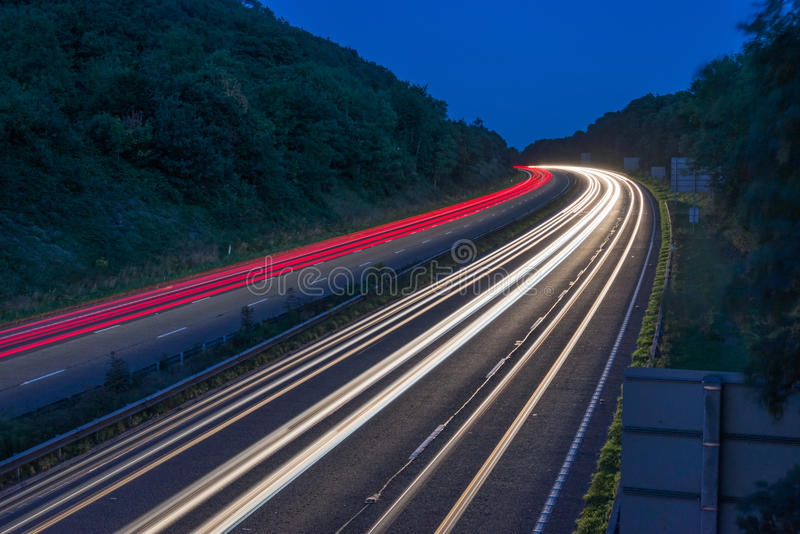 Curve of commuter traffic royalty free stock photo