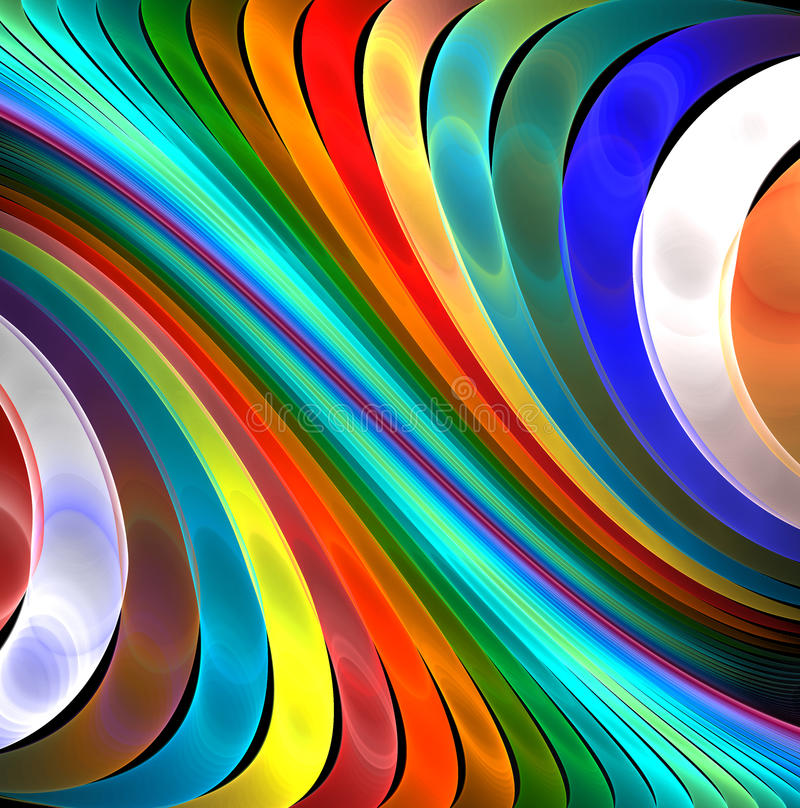 Curve del Rainbow fotografia stock libera da diritti