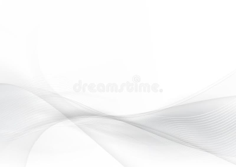 Curve e misture o fundo abstrato cinzento e branco 004 ilustração do vetor