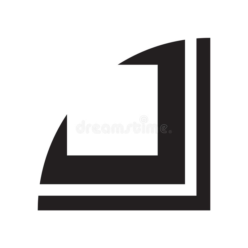 Curve la muestra y el símbolo del vector del icono aislados en el fondo blanco, concepto del logotipo de la curva libre illustration