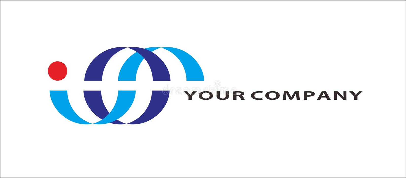 Curve logo van grafisch bedrijf stock illustratie