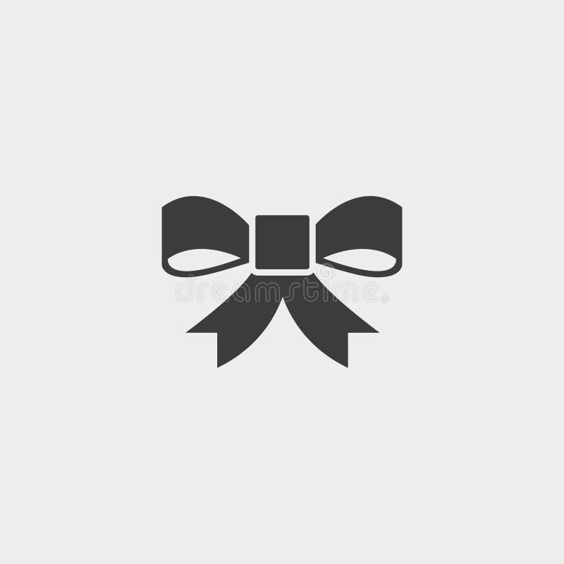 Curve o ícone em um projeto liso na cor preta Ilustração EPS10 do vetor ilustração stock
