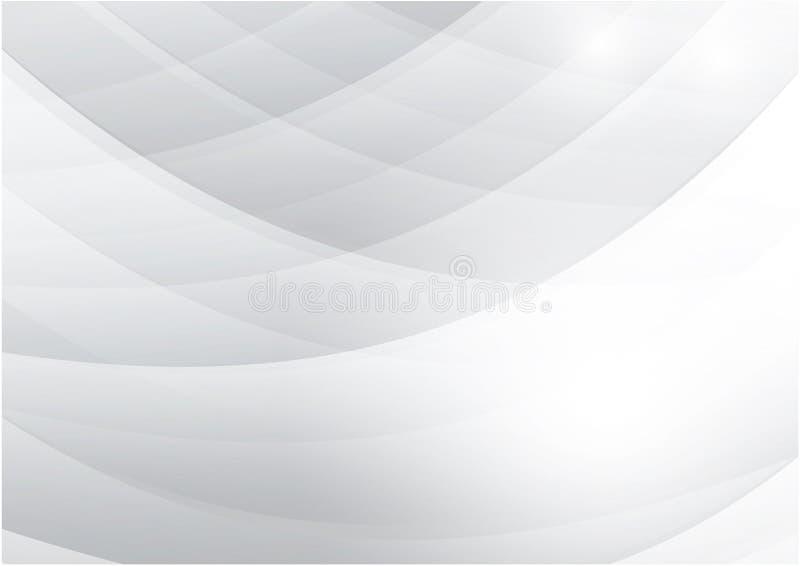 Curve o fundo branco e cinzento do sumário do vetor da cor com projeto moderno do espaço da cópia para seu negócio ilustração stock