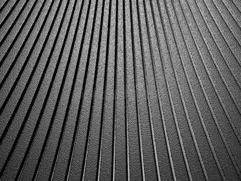 Curve o fundo metálico de alumínio de prata do teste padrão da listra da forma ilustração do vetor
