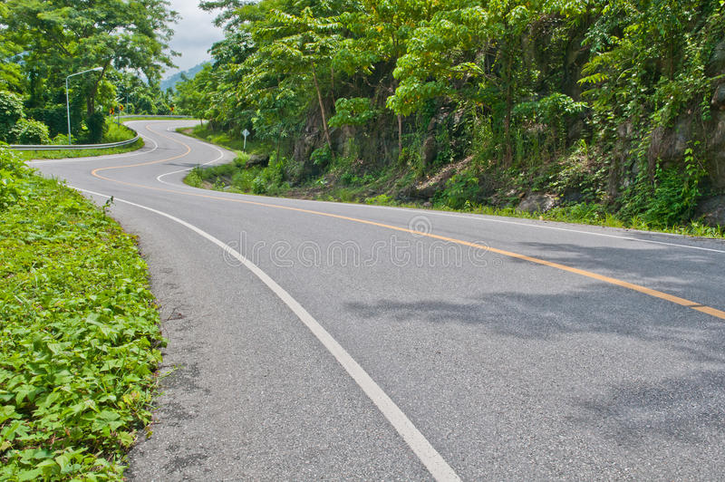 Download Curve road stock photo. Image of drive, tree, traffice - 26825896