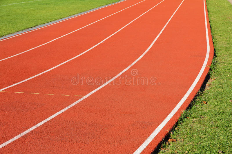 Download Curve of the running track stock photo. Image of meter - 28059722