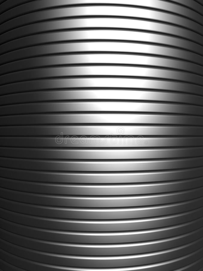 Curve shape silver aluminium stripe background royalty free stock image