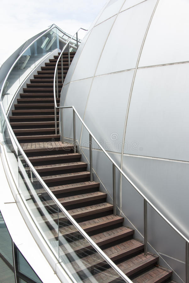 Curve Staircase Stock Photography