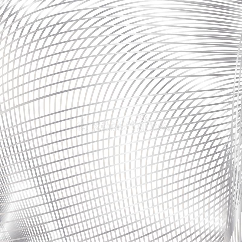 Curve stripes white texture background stock illustration