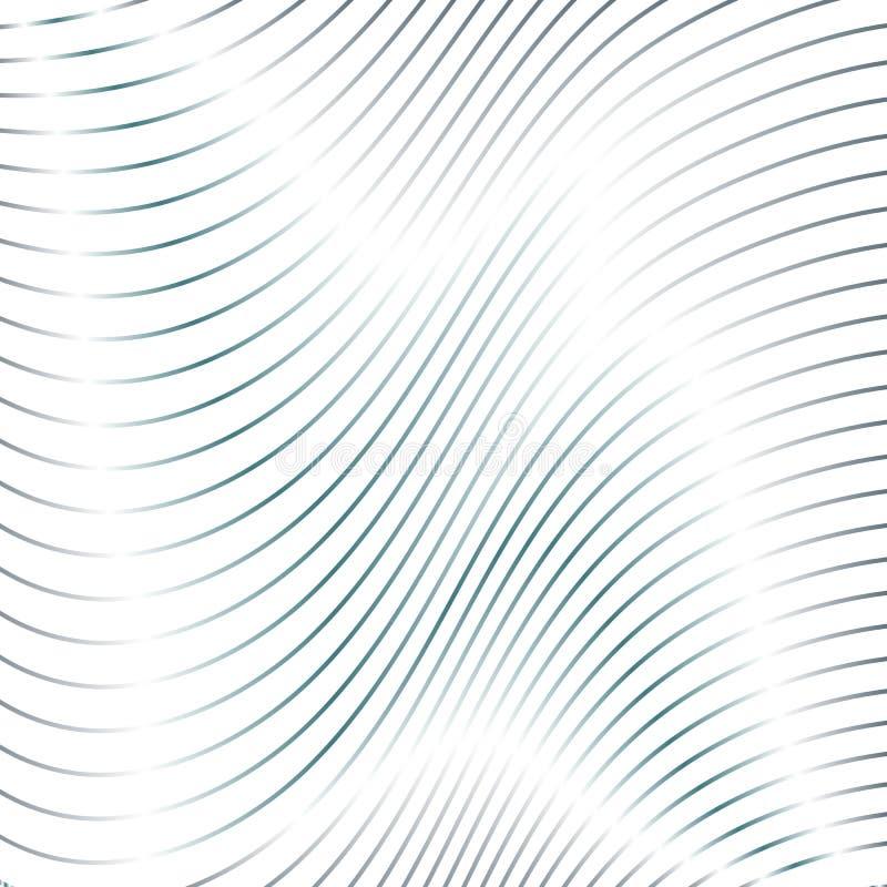 Curve stripes white texture. Background stock illustration