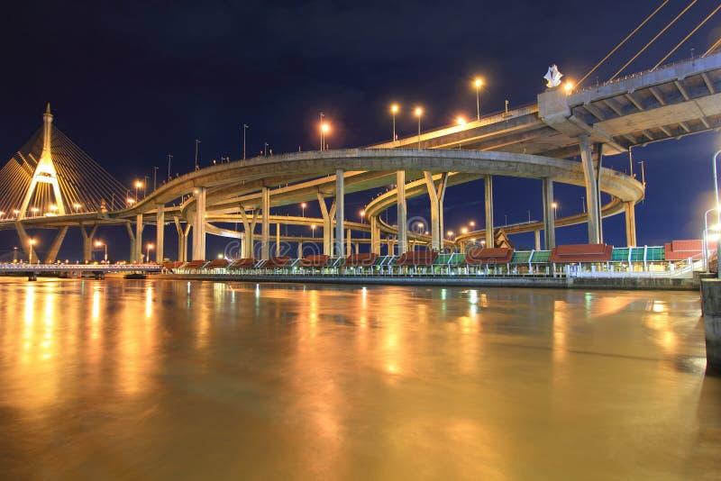 Download Curve of suspension bridge stock photo. Image of fast - 26846084