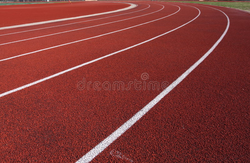 Curve of the track royalty free stock photo