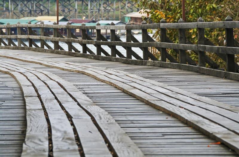 Download Curve of wooden bridge stock image. Image of pathway - 25548455