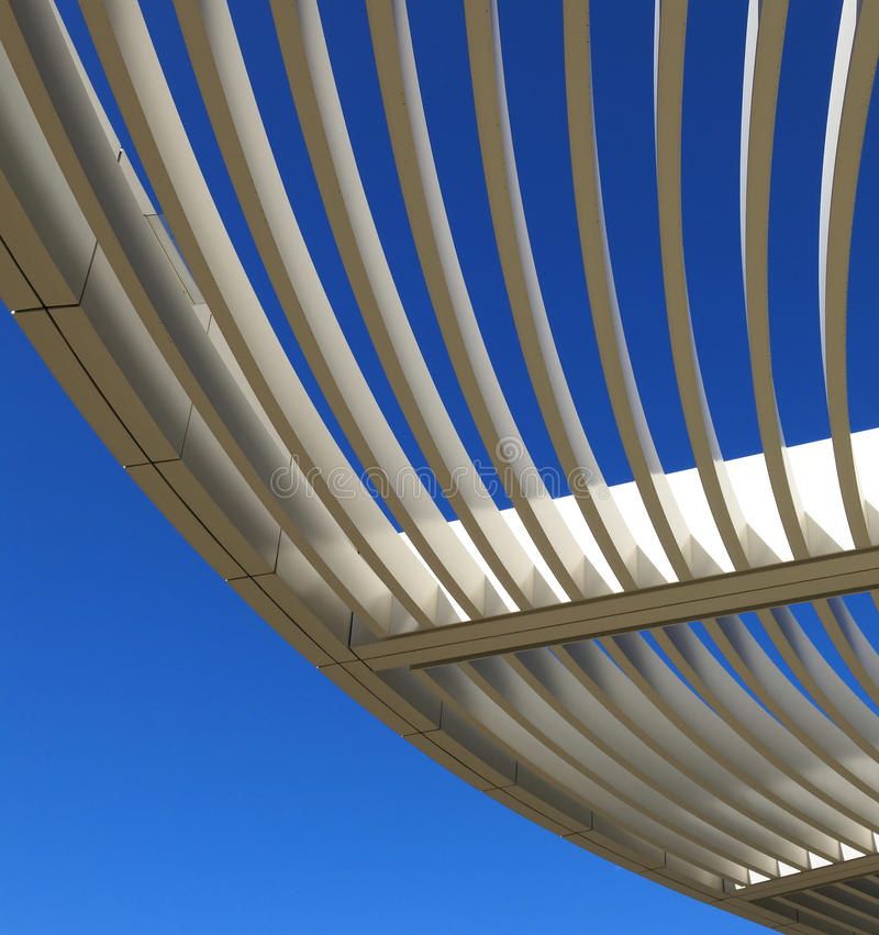 Download Curved aluminum pergola stock photo. Image of building - 39120470
