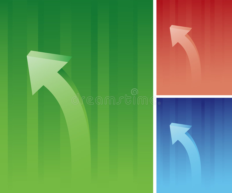 Curved Arrow Stock Image