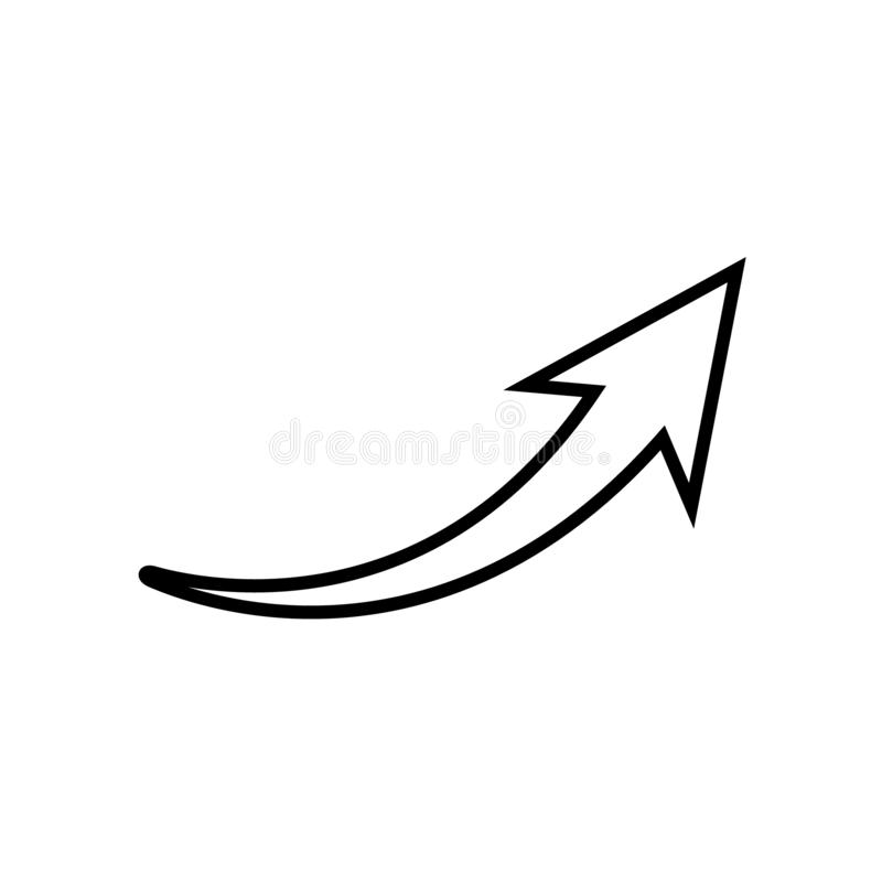 Free Curved Arrow Outline Icon, Vector Illustration, Arrow Pointer Icon Stock Photo - 156074060