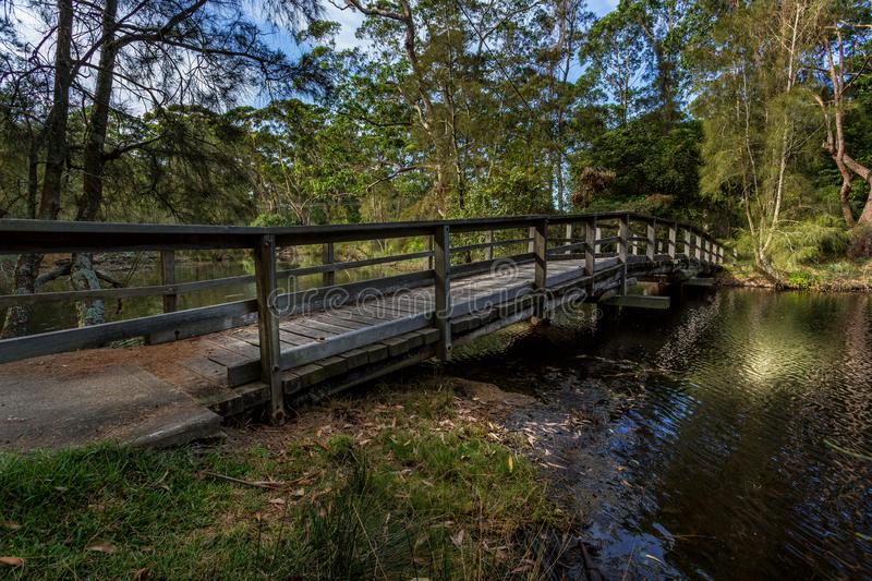Curved bridge in South Durras royalty free stock photography