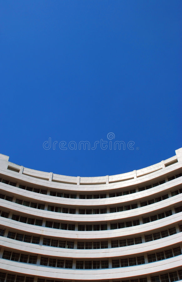 Curved building royalty free stock photography