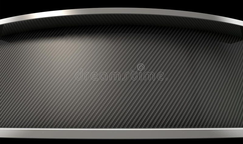 Curved Carbon Fibre And Chrome royalty free illustration