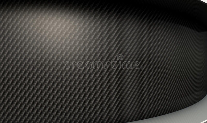 Curved Carbon Fibre And Chrome stock illustration