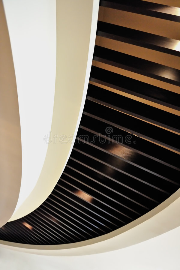 Curved Ceiling Design stock photography