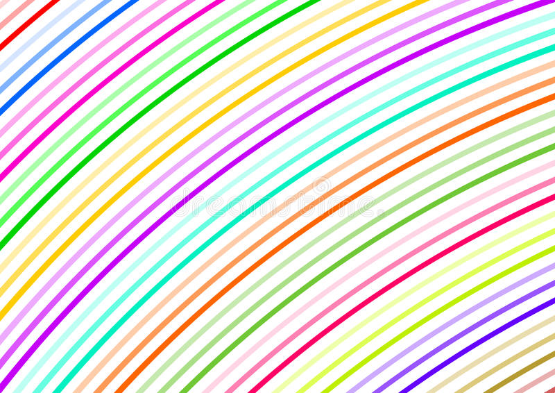 Curved colorful small strips diagonally. In a landscape format royalty free illustration