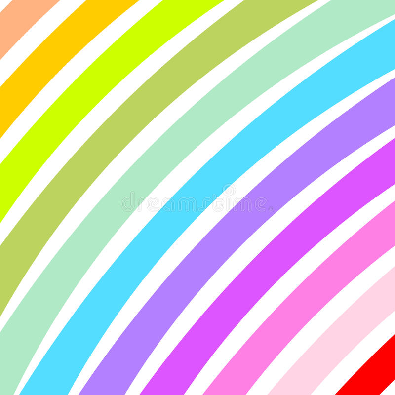 Curved colorful wide strips diagonally. In a square format vector illustration