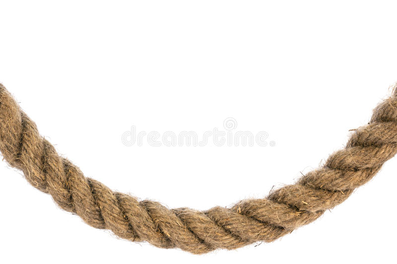 Curved frame rope isolated royalty free stock photography