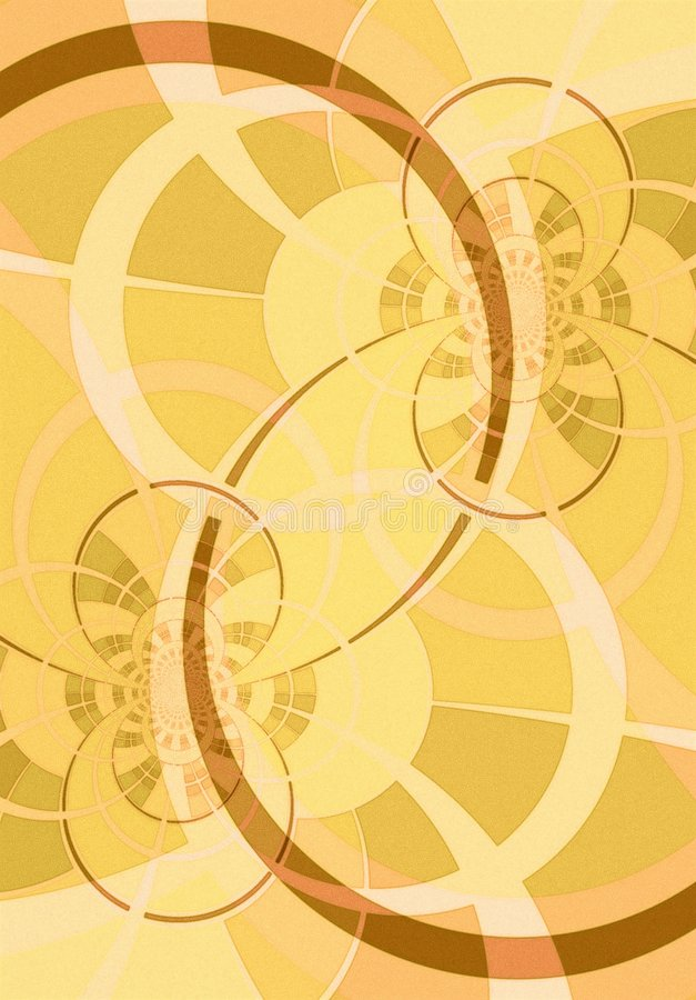 Download Curved Lines And Circles Gold Royalty Free Stock Image - Image: 2100506
