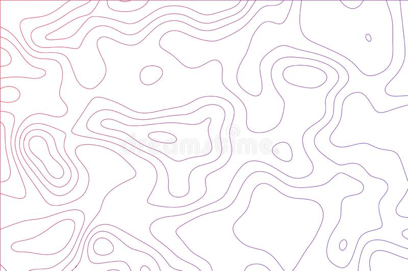Curved lines, fluid shapes illusion of movement, dynamical surface. Bright colors royalty free illustration