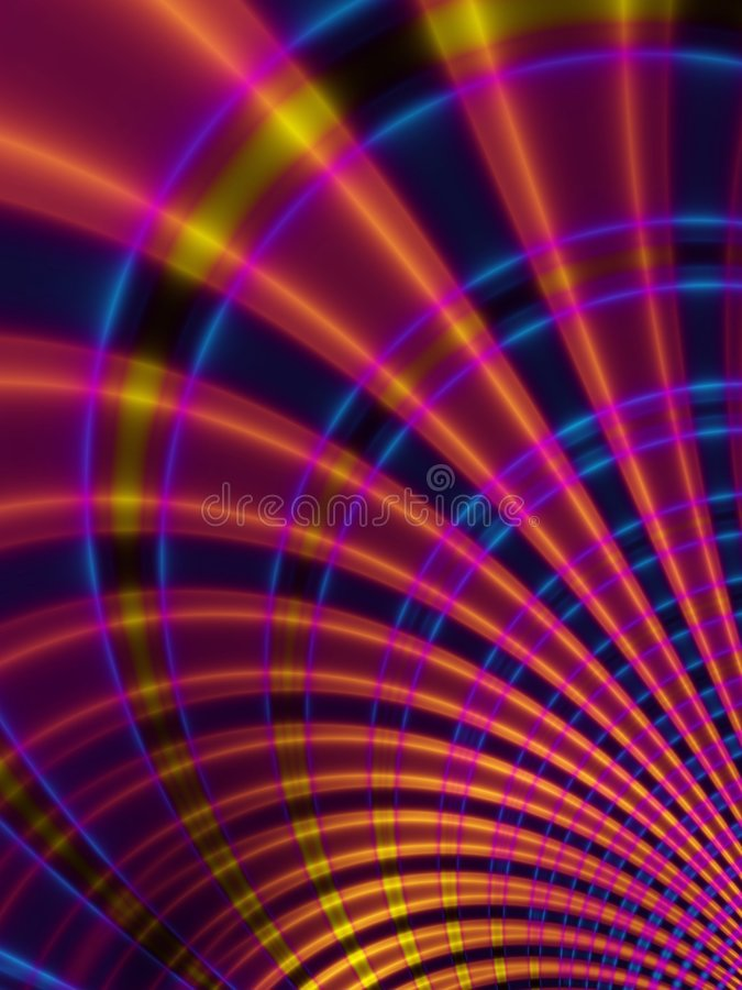 Curved Lines Stripes Pattern. Abstract spiral lines curves texture pattern in blue, red and gold colors royalty free stock photography