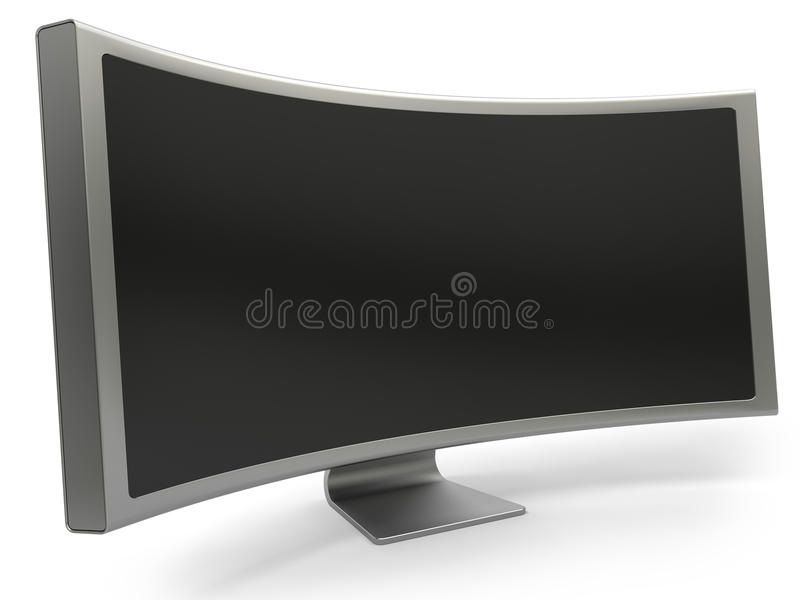 Curved Monitor Royalty Free Stock Photography