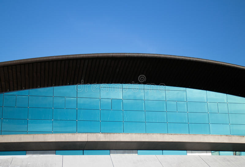 Curved office building royalty free stock photo