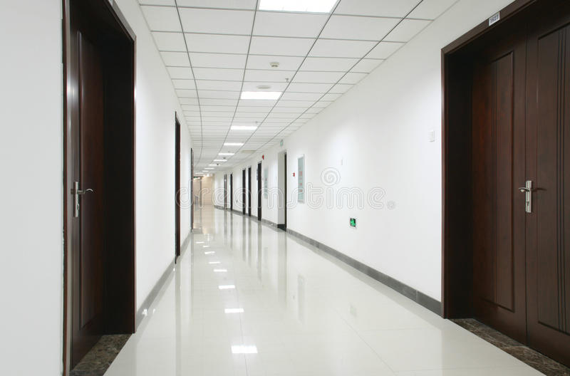Curved office hallway stock photo image of curving shiny for Office hallway design