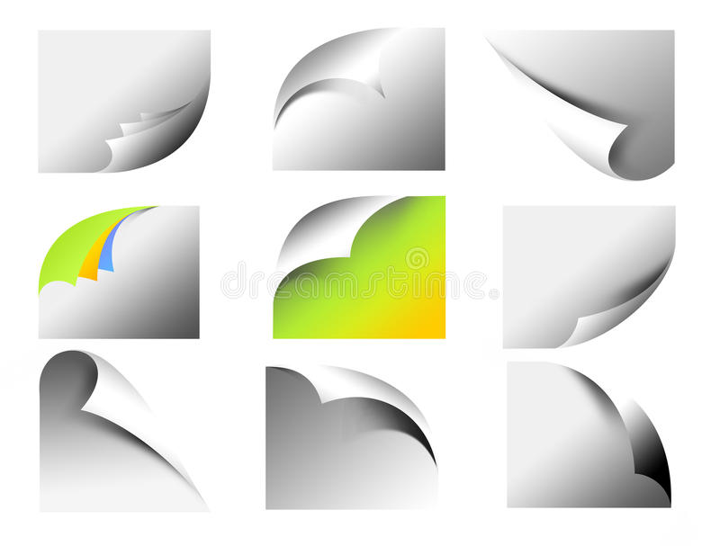 Download Curved Page Corners Stock Illustration - Image: 40891625