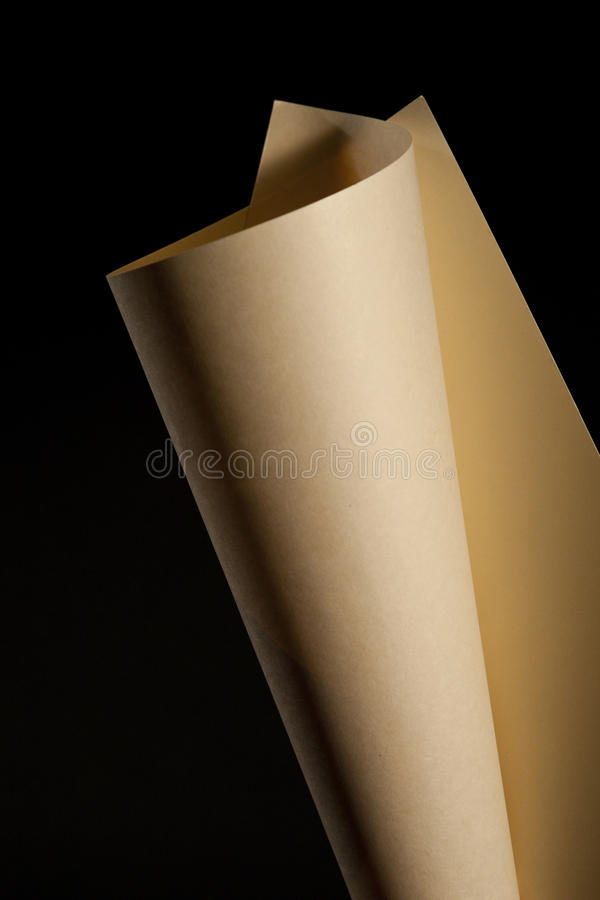 Curved Paper Stock Photo