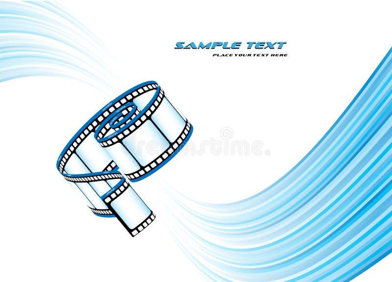 Curved photographic film stock illustration
