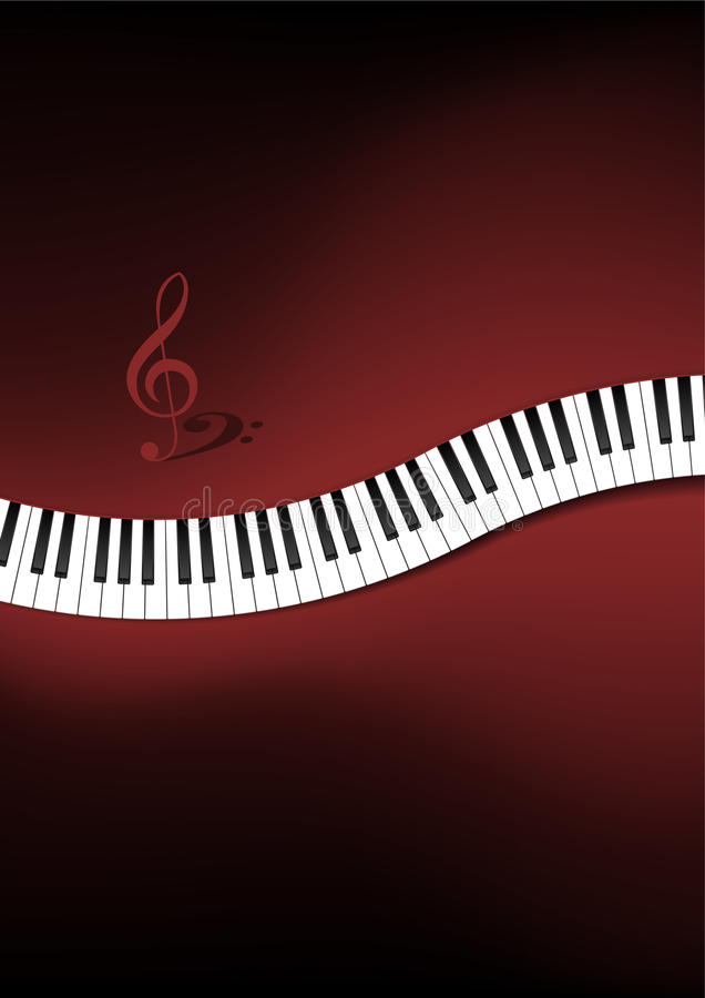 Download Curved Piano Keyboard Background Stock Illustration - Image: 27040081
