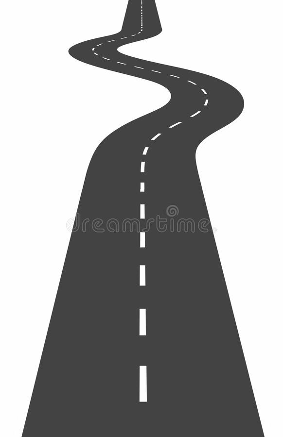 Download Curved road stock illustration. Image of difficulties - 31040947