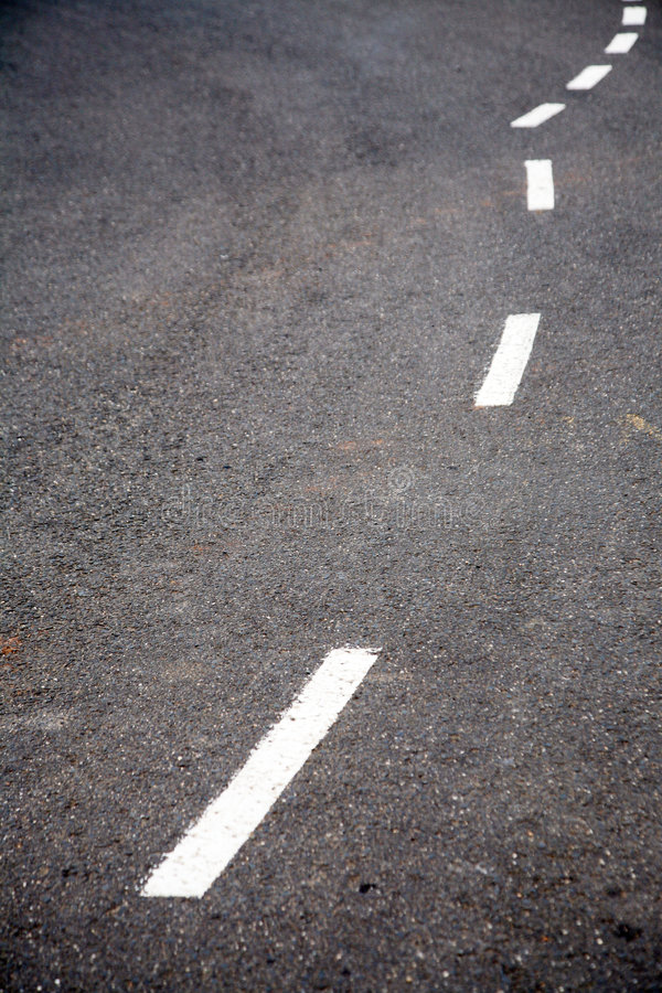 Download Curved road line markings stock image. Image of paint - 7177031