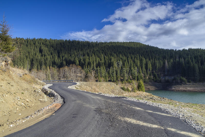 Download Curved road at mountain stock image. Image of color, fall - 28743339