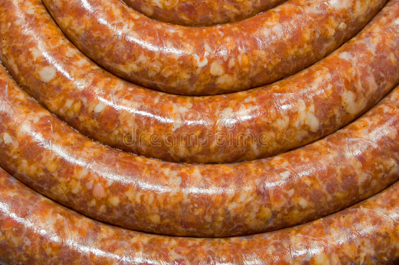 Curved sausage royalty free stock images