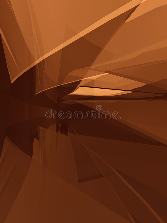 Curved Spatial Forms Stock Images