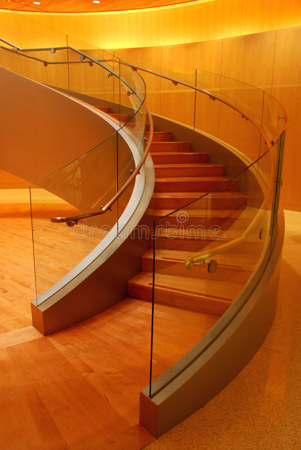 Curved stairs royalty free stock photo