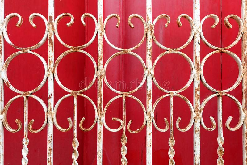 Curved Steel Fence. royalty free stock images