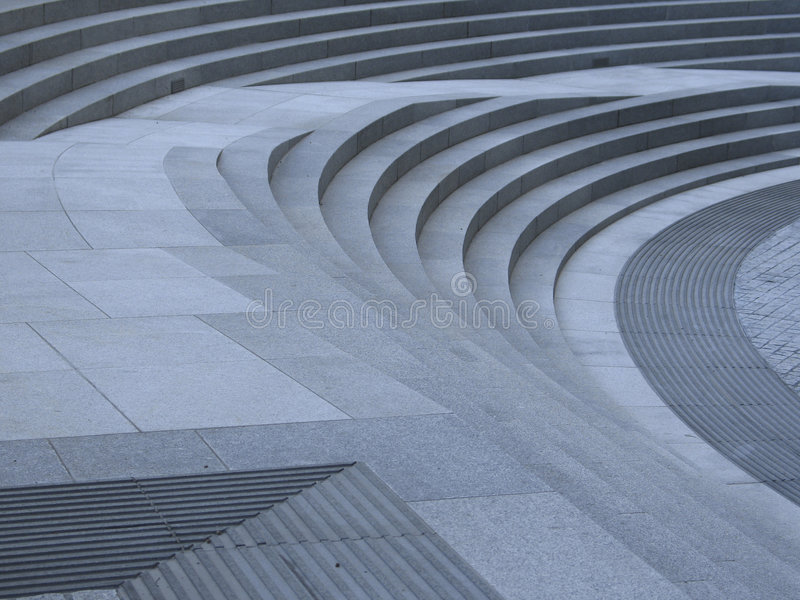 Curved steps stock photos