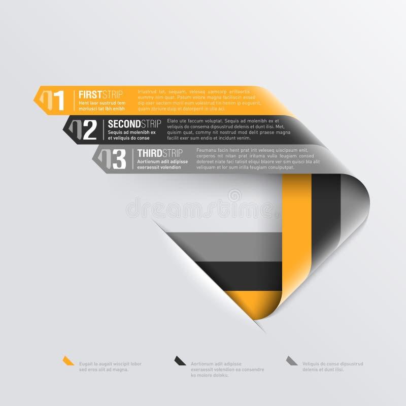Download Curved Stripes Design Template Stock Vector - Illustration: 29666501