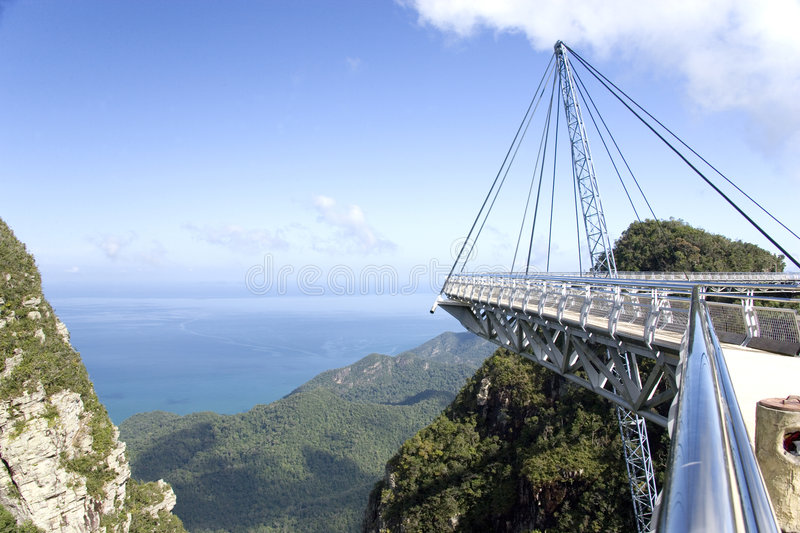 Download Curved Suspension Bridge stock image. Image of curved - 1557067