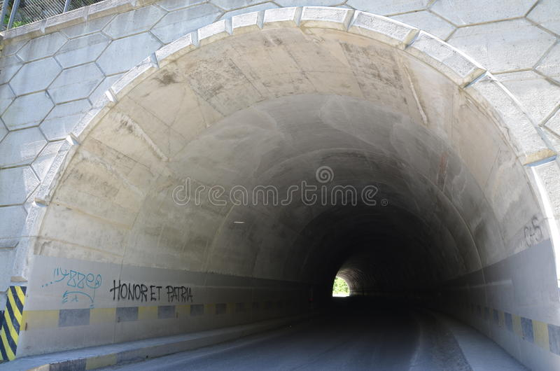 Curved Tunnel Royalty Free Stock Photography